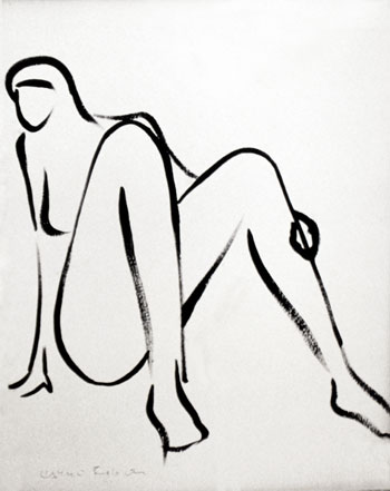 woman line drawing series, number 2