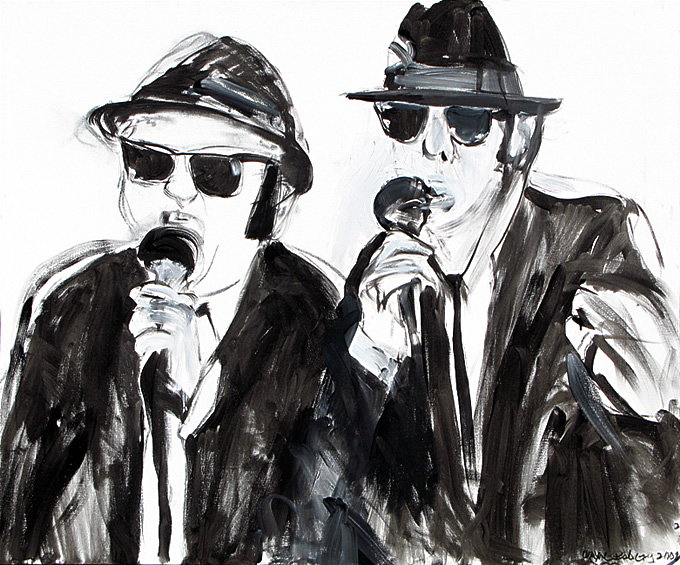 Blues Brothers, drawing / painting