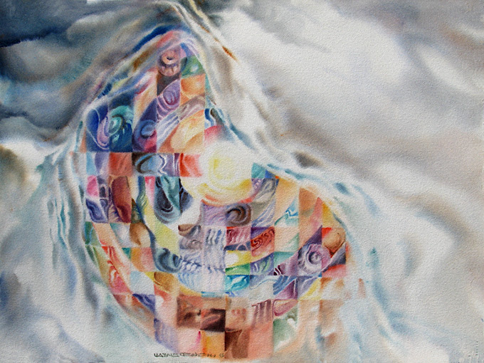 Epiphany, original watercolour 1993, by Wayne Roberts