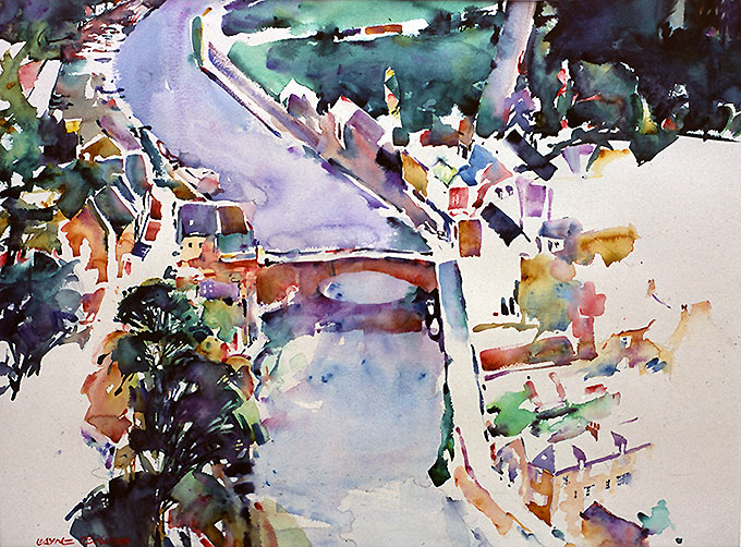 Dinan, France - watercolor