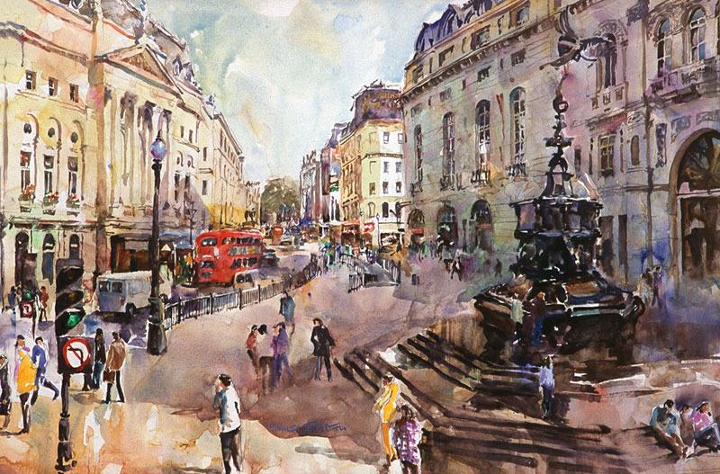 Piccadilly, watercolour